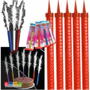 Candeline Fontana compleanno festa party disco discoteca candelina torta scintille fuoco - kadosa
