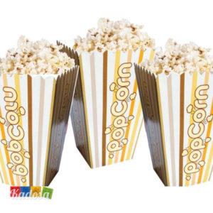 6 Sacchetti Servi POP CORN popcorn festa party compleanno birthday amici serata ospiti grigliata antipasti stuzzichini - Kadosa