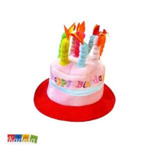 Cappello candeline Happy Birthday Rosso festa di compleanno idea regalo festeggiato musica tanti auguri amici scherzo simpatico 62-1020 - Kadosa