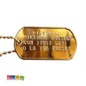 Piastrine militari GOLD - kadosa