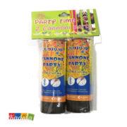 Mini Cannone Party 10,5 cm Coriandoli Multicolor - Kadosa