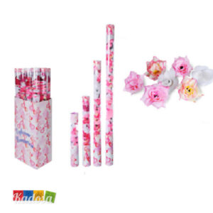 Tubi Sparacordiandoli Rose Rosa e Bianche fiori sintetici petali matrimonio wedding festa romantico - Kadosa