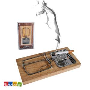 posacenere Trappola Topo posa cenere fumatori idea regalo porta cenere sigaretta appoggia scherzo compleanno - kadosa