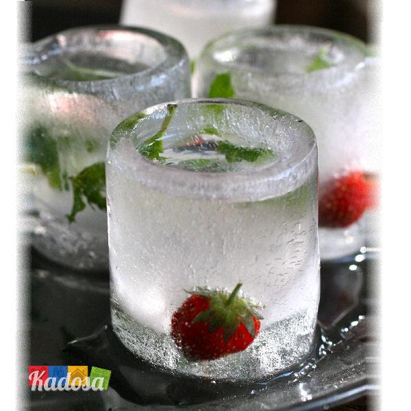 shottini ghiaccio forma ghiaccio bicchierini shot liquore amaro amici idea regalo sopresa festa compleanno cocktail ice - Kadosa - Kadosa