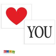 Adesivi Scarpe Sposi LOVE YOU- Kadosa