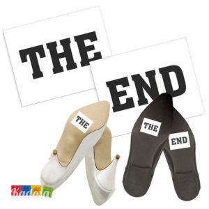 Adesivi Scarpe THE END - Kadosa