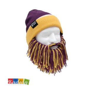 tg1002-MIN Berretto Barba Beard Head GIALLO e VIOLA - Kadosa