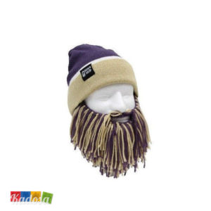 Berretto Barba Beard Head VIOLA e BEIGE - KAdosa