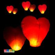 5 Lanterne Volanti Cuore - 10 Lanterne Volanti Cuore - Lanterna Volante Cuore Rosso Romantica e Speciale per Festeggiare con Stile - Kadosa