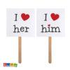 Cartelli LOVE Lui Lei Sposo Sposa - Kadosa