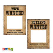 TDZ5 cartello wanted sposo sposa ricercati6 - Kadosa