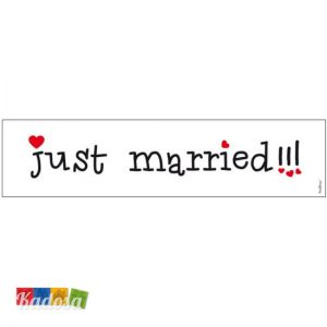 Targa Auto SPOSI Just Married Love Edition con Cuoricini - Kadosa