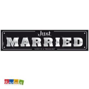 Targa Auto SPOSI Just Married Black Edition American Style-Kadosa