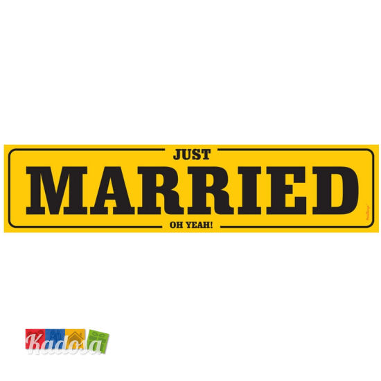 Targa auto sposi just married yellow edition u k style for Targa oggi sposi