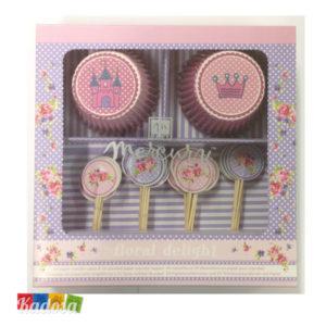 Pirottini Cupcake PRINCESSE con Topper - Kadosa