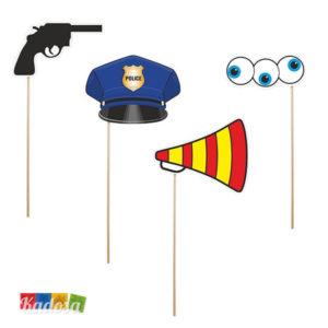 Set Photobooth Polizia pistola megafono - kadosa