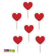 Topper Cuore Rosso Ideale per rendere romantica una serata a base di Dolcetti - Kadosa