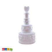 Bolle di Sapone Wedding Cake Bianche Set 4 pz - Kadosa