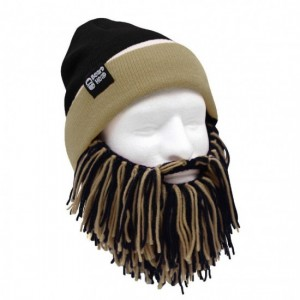 Berretto Bicolor NERO BEIGE con Barba BEARD HEAD - Kadosa