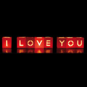 Lanterne Luminose Scritta I Love You