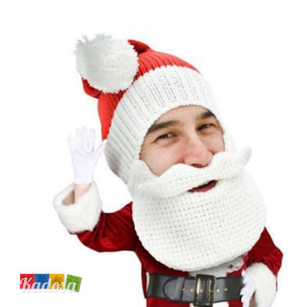 Berretto Berretto Babbo Natale SANTA CLAUS BEARD HEAD - Kadosa b5605400d04d
