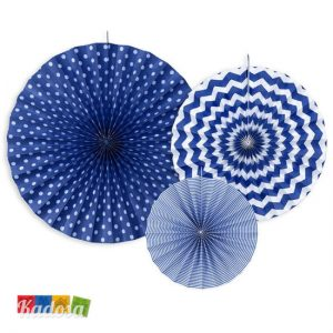 Rosette Decorative Blu Set 3 Pz - Kadosa