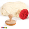 Stampino Timbro Silicone I LOVE BISCUITS - Kadosa