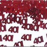 Coriandoli 40 ANNI Rosso metal Festa Compleanno Cena Amici Party Anniversario