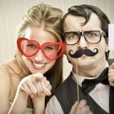 Set PHOTOBOOTH 20 Accessori Foto Party Matrimonio Wedding Sposi