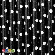 Cannucce Carta Nere Pois Bianchi Set 10 pz - Kadosa