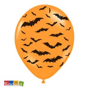 Palloncini Halloween Arancio con Pipistrelli - Kadosa