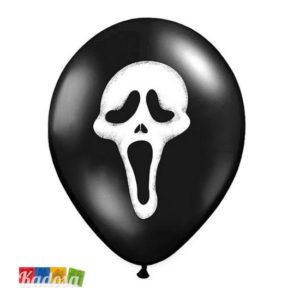 Palloncini Halloween Neri Maschera Scream - Kadosa
