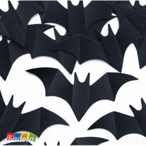 Coriandoli Pipistrello Neri Ideali per Halloween - Kadosa