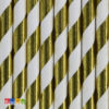 Cannucce Carta Spirale Oro Effetto Metallico in Blister Set 10 pz - Kadosa