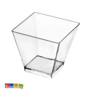 Ciotole Quadro Grande Finger Food Trasparenti Set 6 pz - Kadosa