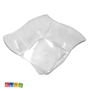 Ciotole Onda Set Finger Food Trasparenti Set 3 pz - Kadosa