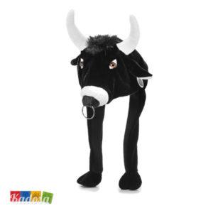 Berretto Animali Toro in Morbido Peluche Taglia Unica con Elastico - Kadosa