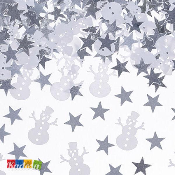 Popolare Coriandoli Natale Pupazzi di Neve e Stelline Confezione da 7 gr  ZR58