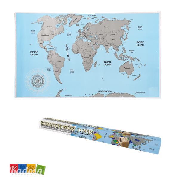 Cartina Mondo Gratta.Cartina Da Grattare Scratch World Map Per Veri Viaggiatori Kadosa