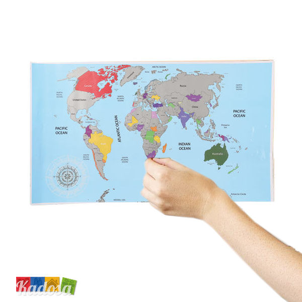 Cartina Mondo Hawaii.Cartina Da Grattare Scratch World Map Per Veri Viaggiatori Kadosa