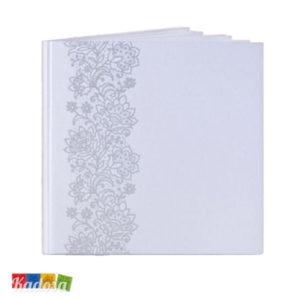 Guest Book Matrimonio Bianco Decorazione Argento - Kadosa