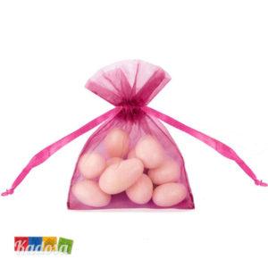 Bustine Organza FUCSIA Porta Confetti Set 20 pz - Kadosa
