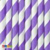 Cannucce Carta Spirale Lilla da 19,5 cm Set 10pz - Kadosa