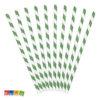 Cannucce Carta Spirale Verde da 19,5 cm Set 10pz - Kadosa