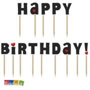 Cake Topper Happy Birthday Coccinella Set da 14 pz - Kadosa