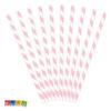 Cannucce Carta Spirale Rosa da 19,5 cm Set 10 pz - Kadosa