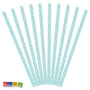 Cannucce Carta Tiffany Pois Bianchi Set 10 pz - Kadosa