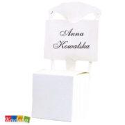 Scatole porta confetti SEDIA bianca- kadosa