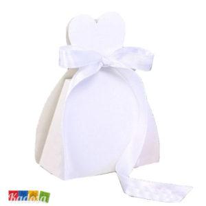 Scatole Porta Confetti SPOSA Bianche Set 10 pz - Kadosa