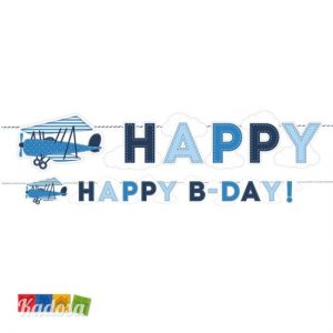 Striscione Happy B-Day Aeroplano - Kadosa
